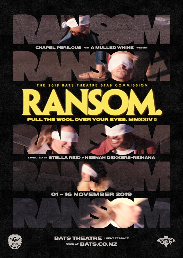 ransom. at Bats Theatre, poster by Hadleigh Donaldson